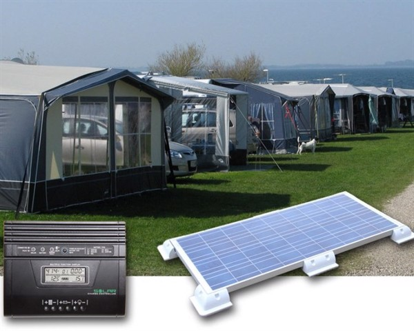 Image of   Camping solcelleanlæg 400-450Wh (100Wp)