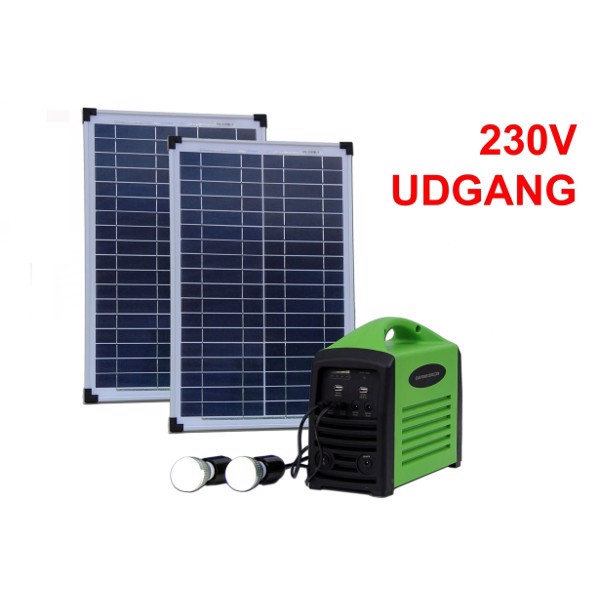 Image of   Camping kit 240 (2x 25W / 240Wh batteri / 230V AC)