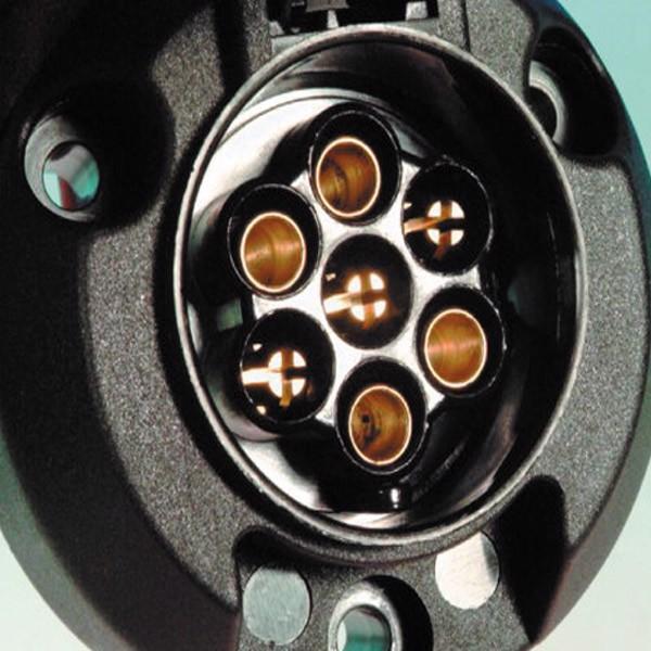 Image of 7 pols strømudtag til bil