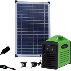 Solceller, komplet camping kit 25W/80Wh